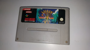 * Super Nintendo Game * LAGOON * SNES * RIP ON BACK