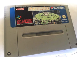 * Super Nintendo Game * POPULOUS * SNES