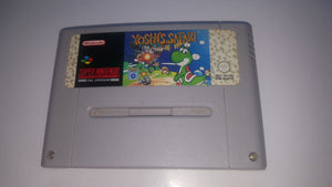 * Super Nintendo Game * YOSHI'S SAFARI * SNES RIPPED BACK LABEL