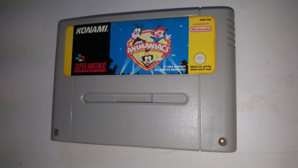 * Super Nintendo Game * ANIMANIACS * SNES *