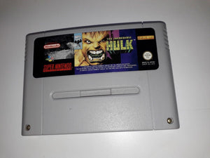 * Super Nintendo Game * THE INCREDIBLE HULK * SNES *