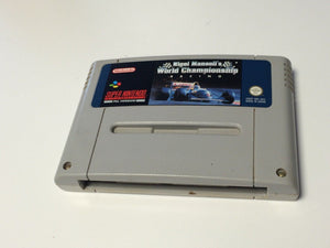 * Super Nintendo Game * NIGEL MANSELL'S WORLD CHAMPIONSHIP RACING * SNES