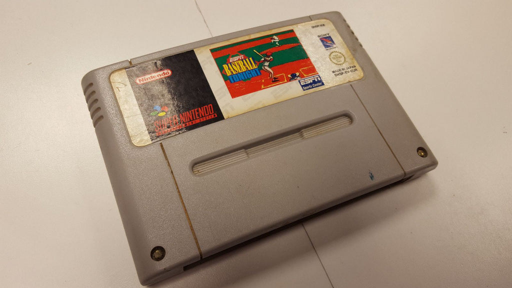 * Super Nintendo Game * ESPN BASEBALL TONIGHT * SNES
