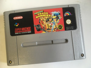 * Super Nintendo Game * THE INCREDIBLE CRASH TEST DUMMIES * SNES