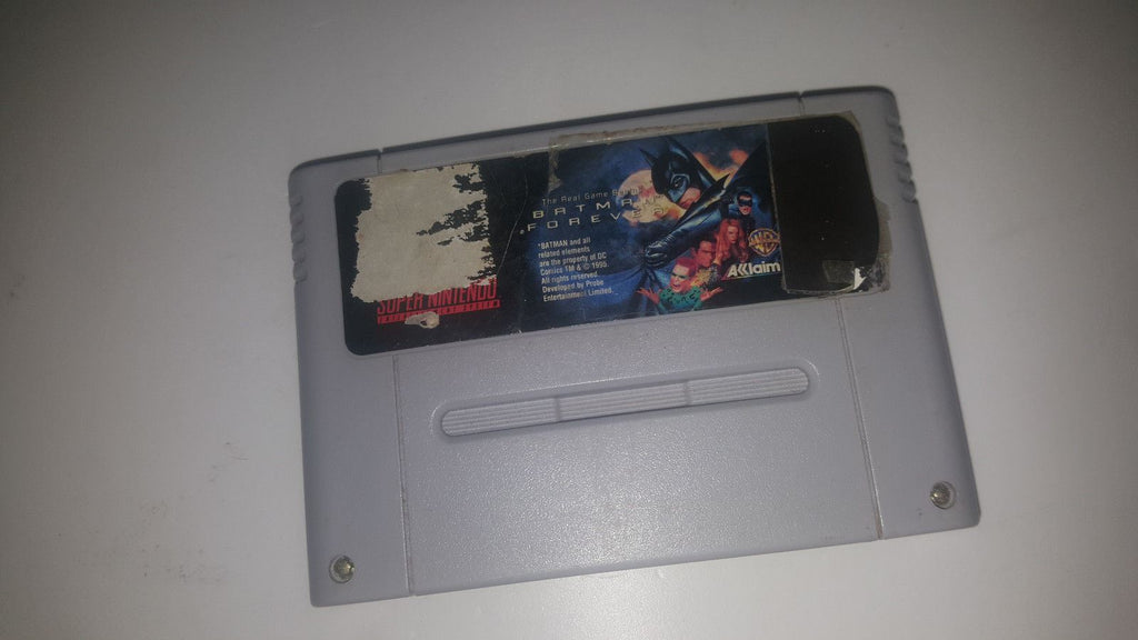 * Super Nintendo Game * BATMAN FOREVER * SNES LABEL WEAR
