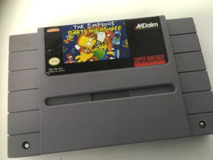 * Super Nintendo Game * THE SIMPSON'S BART'S NIGHTMARE SNES US NTSC Only Not UK