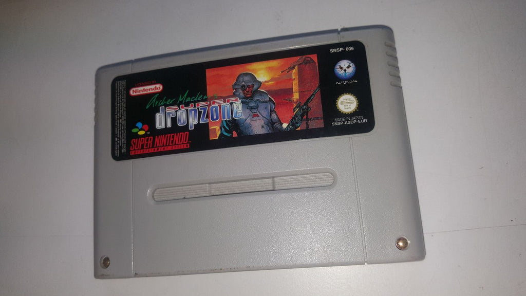 * Super Nintendo Game * ARCHER MACLEAN'S SUPER DROPZONE * SNES *