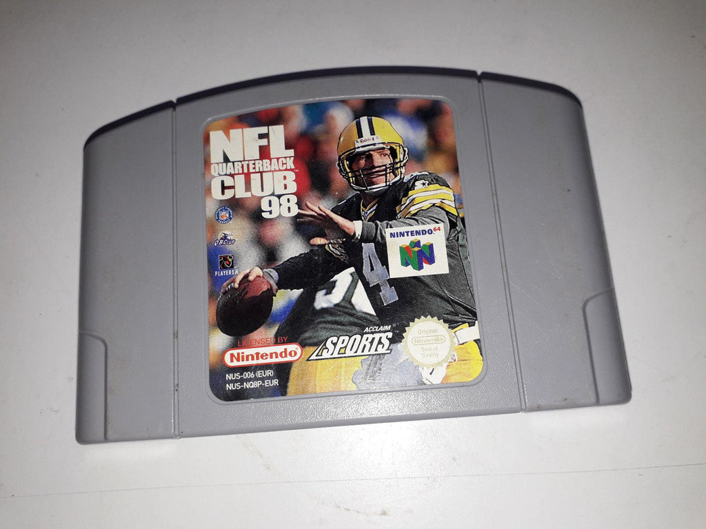 * Nintendo 64 Game * NFL QUARTERBACK CLUB 98 * N64