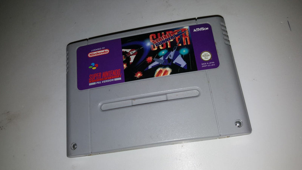 * Super Nintendo Game * SUPER STRIKE GUNNER * SNES *