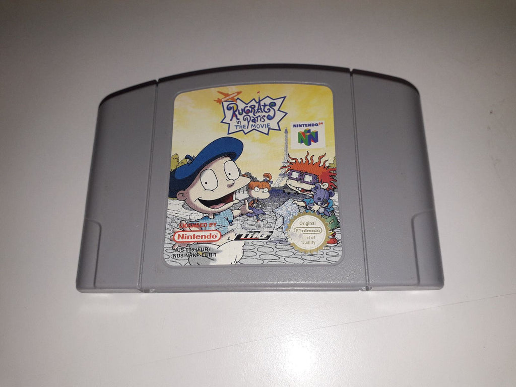 * Nintendo 64 Game * RUGRATS IN PARIS THE MOVIE * N64