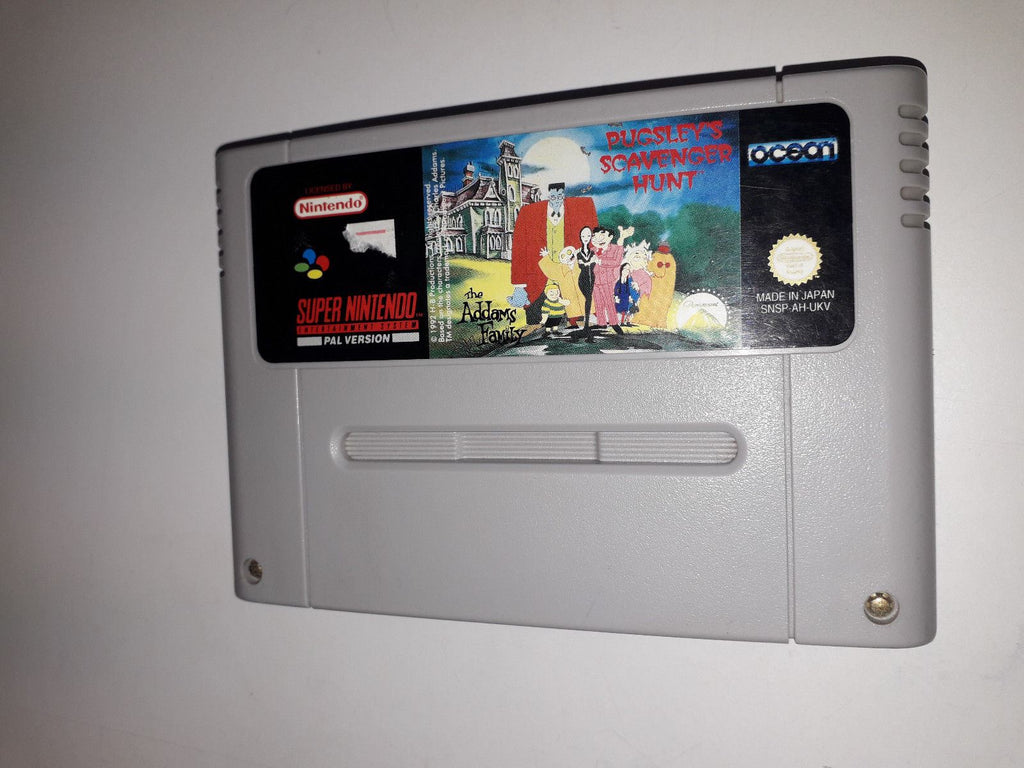 * Super Nintendo Game * ADAMS FAMILY PUGSLEYS SCAVENGER HUNT * SNES