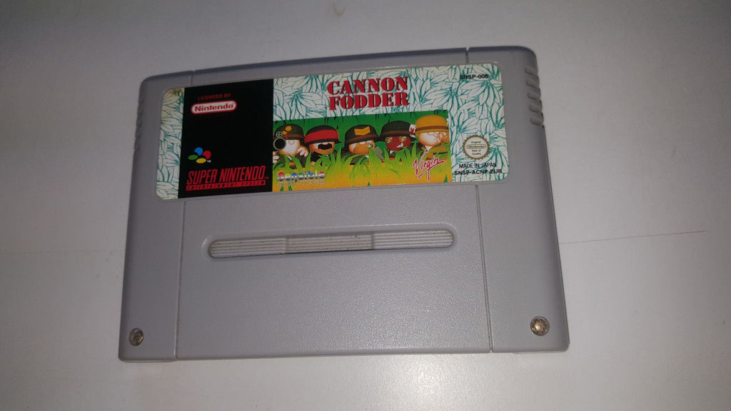 * Super Nintendo Game * CANNON FODDER * SNES *
