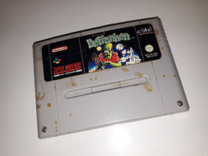 * Super Nintendo Game * THE ADVENTURES OF DR FRANKEN * SNES  LABEL WEAR