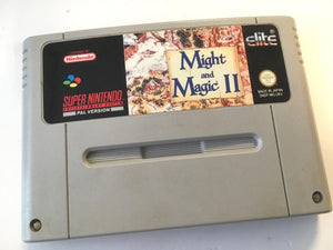 * Super Nintendo Game * MIGHT AND MAGIC II 2 * SNES *