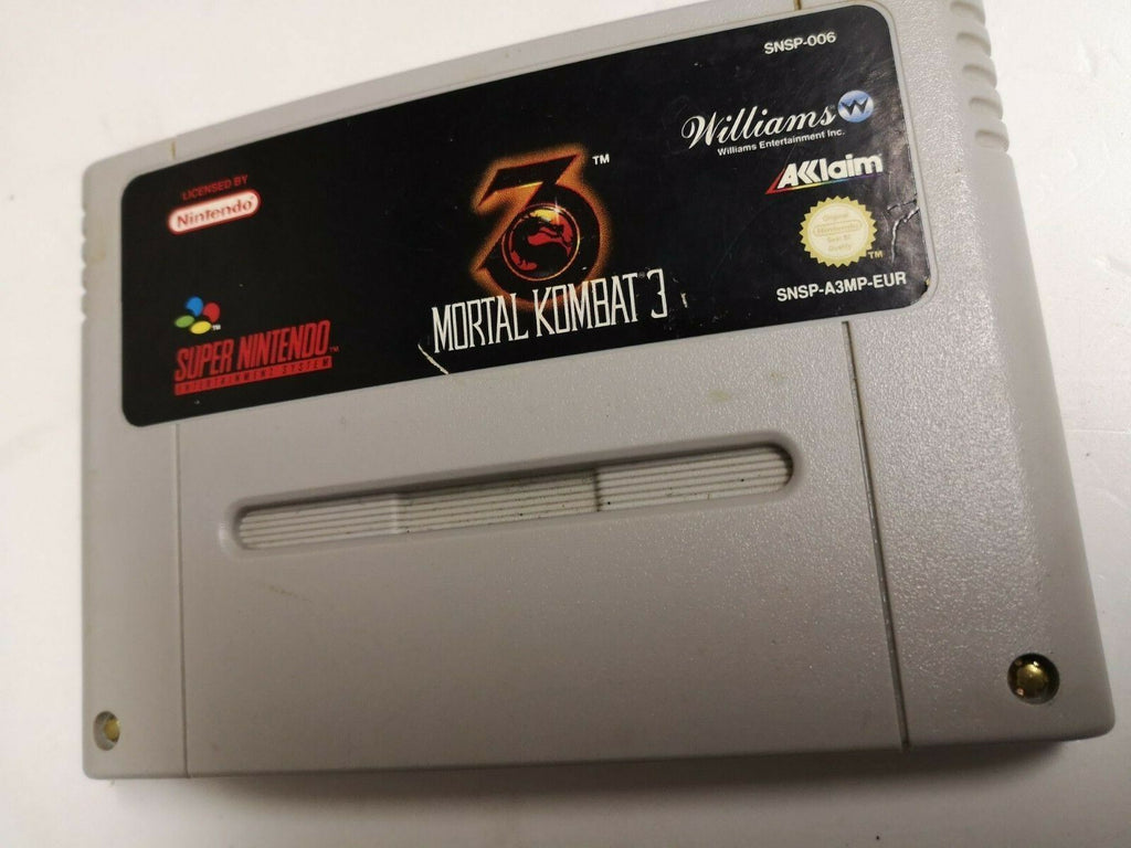 * Super Nintendo Game * MORTAL KOMBAT 3 * SNES
