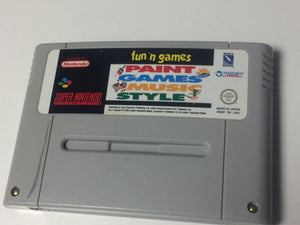 * Super Nintendo Game * FUN 'N GAMES PAINT GAMES MUSIC STYLE * SNES