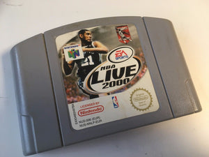 * Nintendo 64 Game * NBA LIVE 2000 * N64 * Back Label Torn off