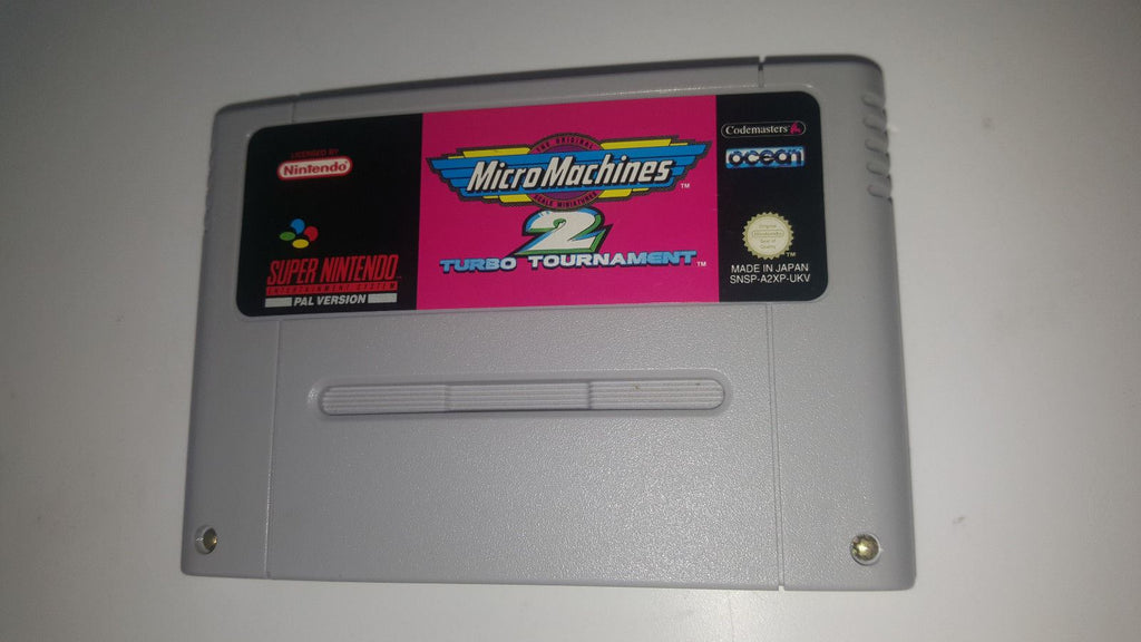 * Super Nintendo Game * MICRO MACHINES 2 TURBO TOURNAMENT * SNES