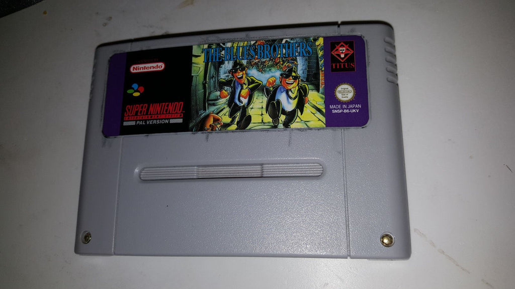 * Super Nintendo Game * BLUE BROTHERS * SNES *