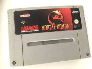 * Super Nintendo Game * MORTAL KOMBAT * SNES *