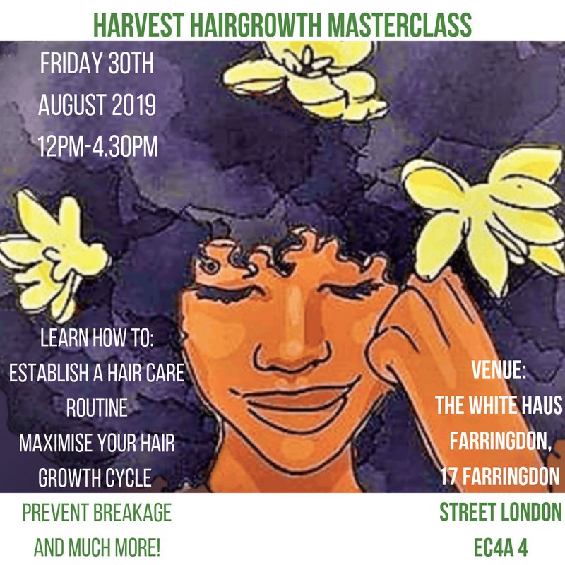 Harvest Hairgrowth Masterclass Tickets Now Available!