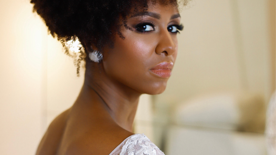 wedding hairstyle for afro/curly hair
