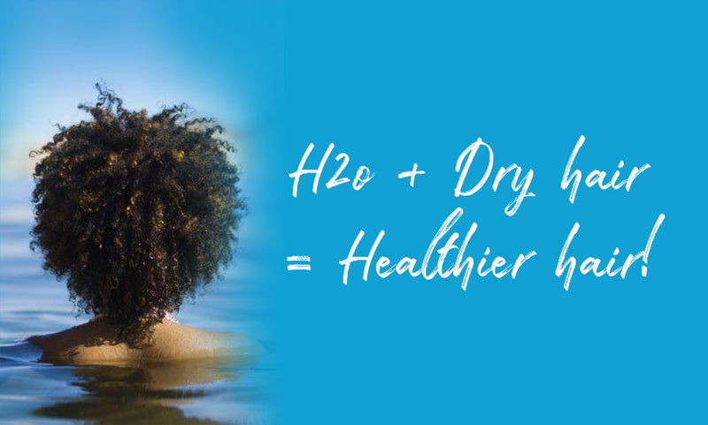 3 easy ways to improve the moisture in your hair using water!
