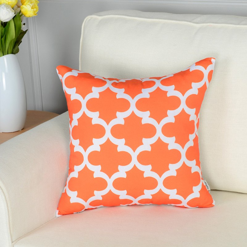 Topfinel Geometric Decorative Throw Pillow Covers Orange Color Mesmerizing Load Pillow Covers