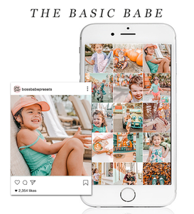 The Basic Babe | Lightroom Mobile Preset