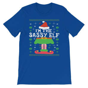 I'm The Sassy Elf Christmas Short-Sleeve Unisex T-Shirt - Fashionmoxy