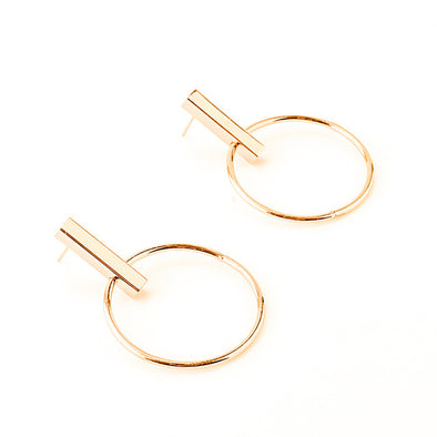 Geometric Big Circle Ear Hoop Earrings - Fashionmoxy