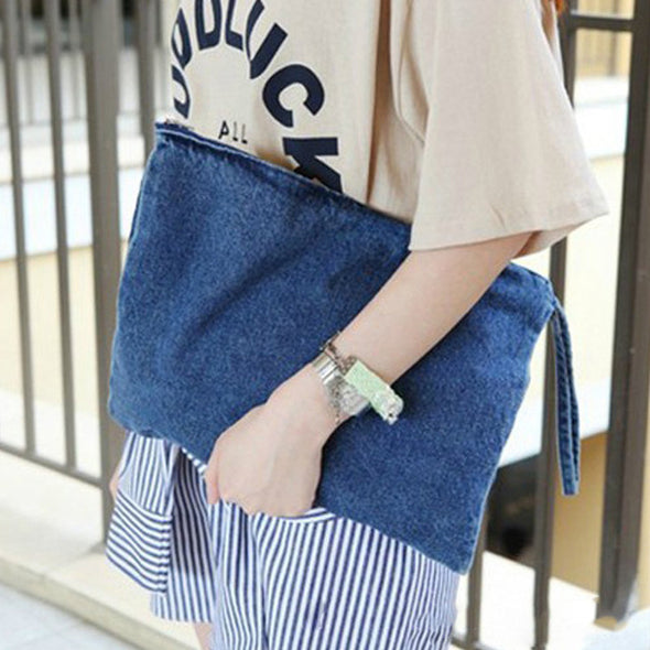 Women Canvas Casual Clutch Bag - Fashionmoxy