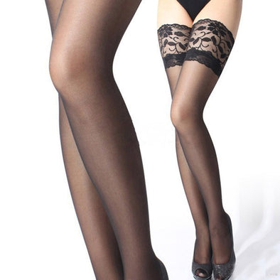 Nylon Thigh High Knee Stockings - Fashionmoxy