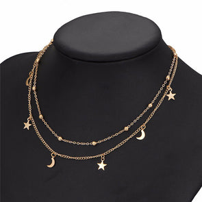 Star Moon Pendant Necklaces - Fashionmoxy
