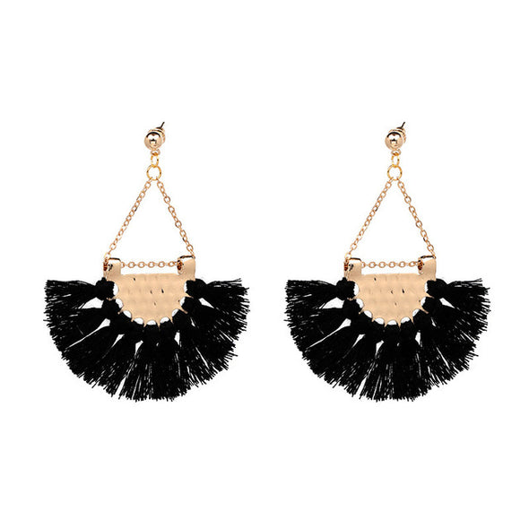 Fringing Statement Tassel Long Earring - Fashionmoxy