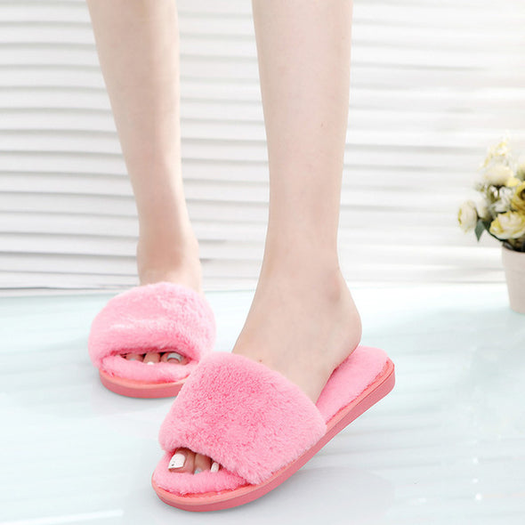 Fluffy Fur Plush Slippers - Fashionmoxy