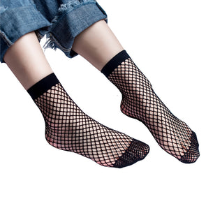 Sexy Look Through Wild Fishnet Hollow Mid Calf Socks - Fashionmoxy