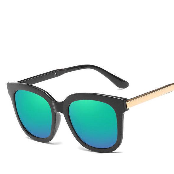 Reflective Mirror Square Sunglasses - Fashionmoxy