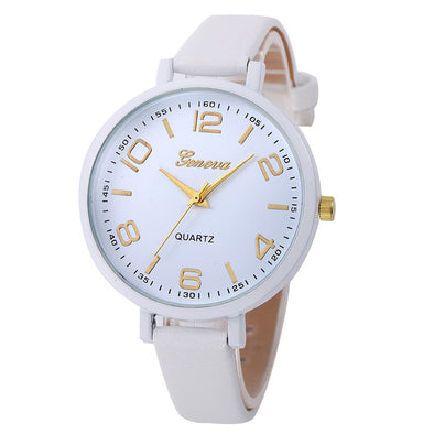 Small Faux Leather Quartz Analog Wrist Watch - Fashionmoxy