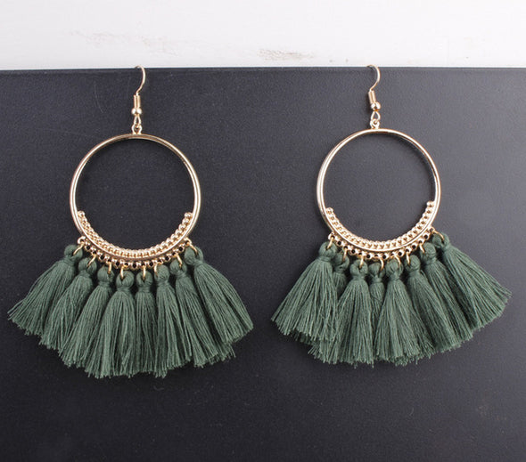 Rope Tassel Earrings - Fashionmoxy