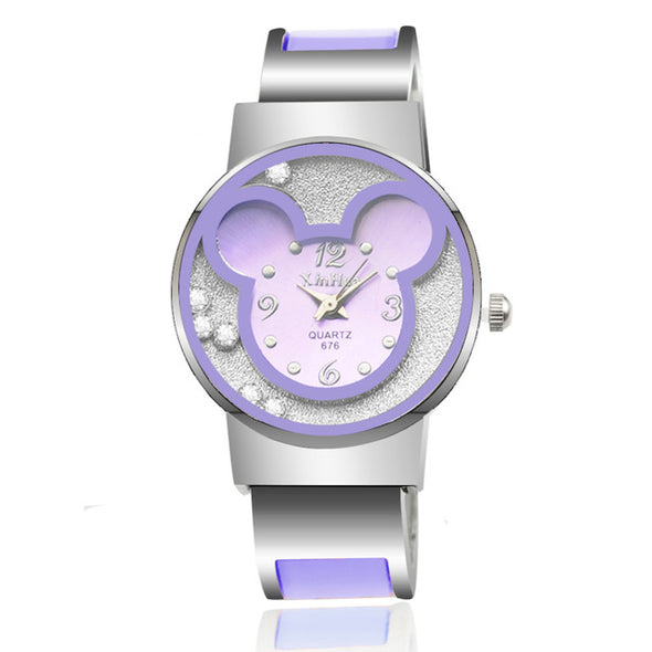 Mickey Mouse Cartoon Stainless Steel Watch - Fashionmoxy
