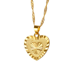 Wave Heart Pendant Necklaces - Fashionmoxy