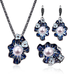 Enamel Flower Jewelry Sets - Fashionmoxy
