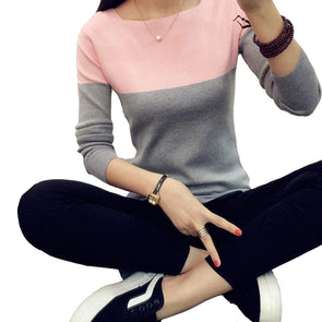 High Elastic Knitted Split Women Sweaters - Fashionmoxy