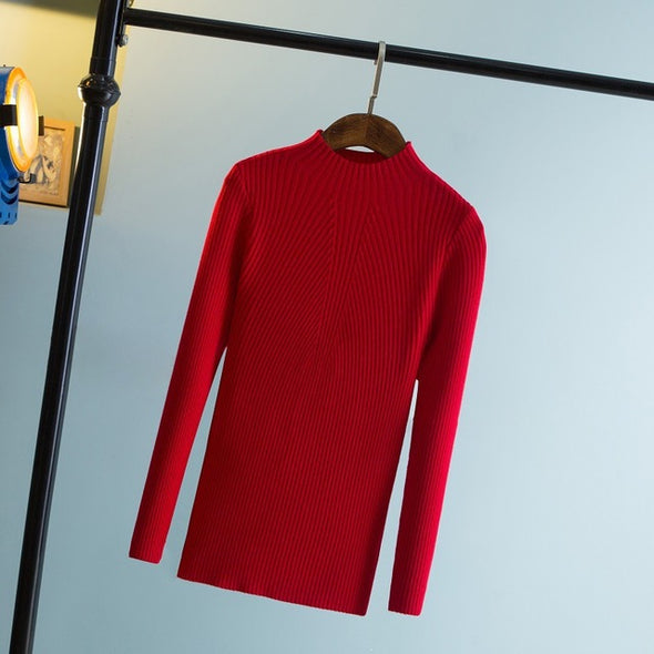 High Elastic Slim Sweater - Fashionmoxy