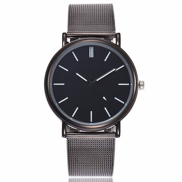 Silver Mesh Stainless Steel Dress Watches - Fashionmoxy