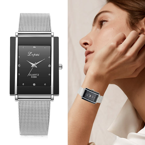 Square Luxury Crystal Alloy Wrist Watches - Fashionmoxy