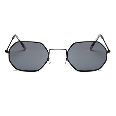 Small Frame Polygon Clear Lens Sunglasses - Fashionmoxy