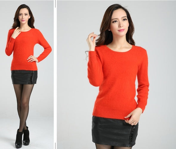 O-Neck Slim Cashmere Sweaters - Fashionmoxy