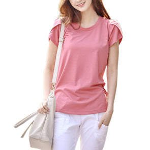 Simple Stylish Cotton Short Sleeve O-neck T-Shirt - Fashionmoxy